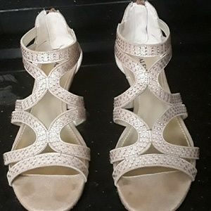 Alfani gold sandals, size 7M